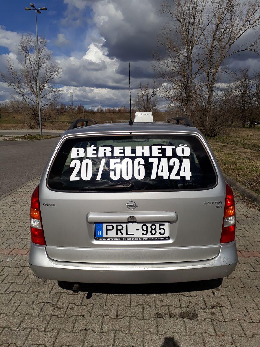 Opel Astra G autóbérlés baján